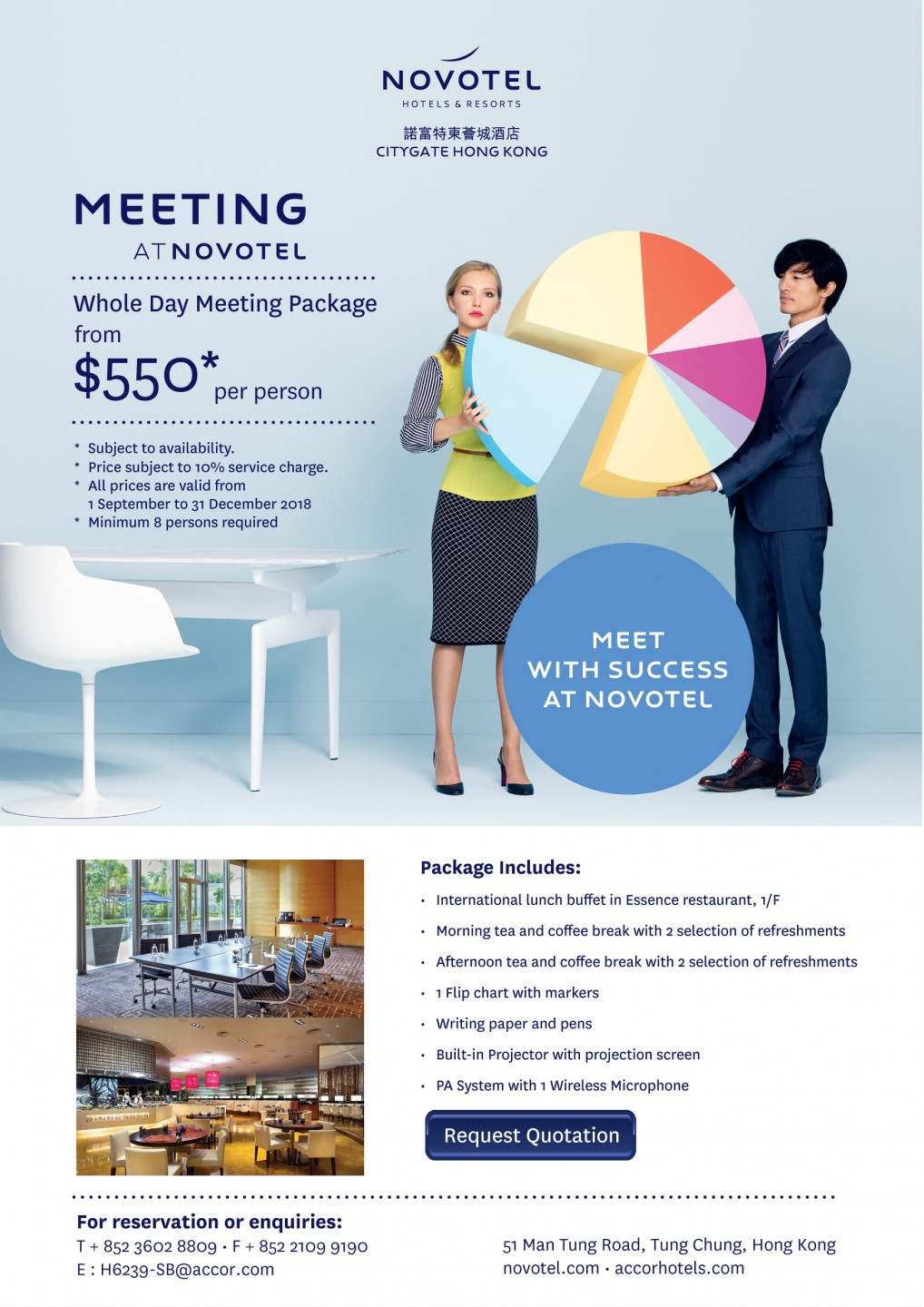 $550 Full Day Meeting Package at Novotel Citygate Hong Kong in Tung Chung